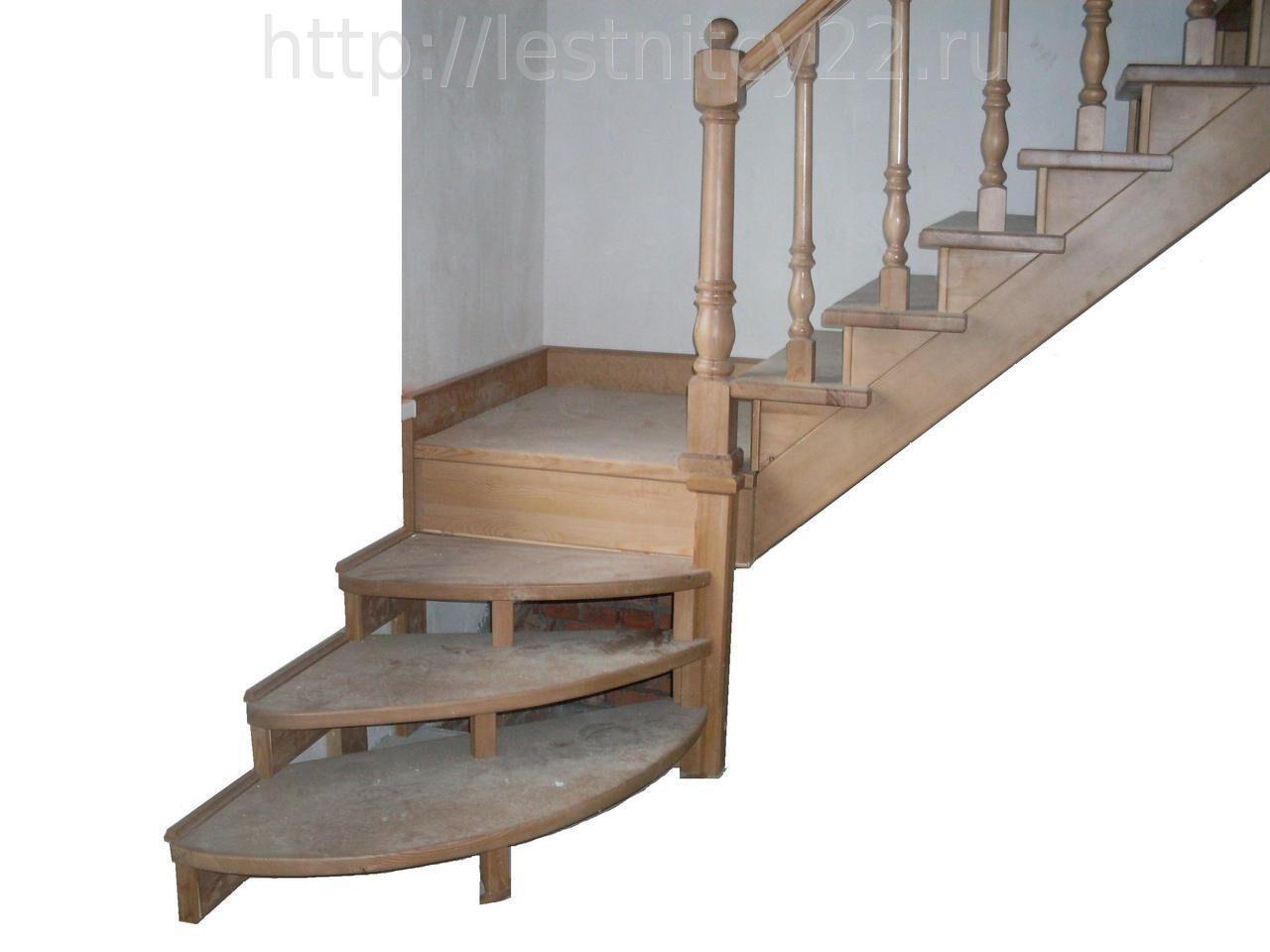 Поворотная лестницы своими руками фото
